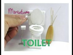 Toilet Wood Dollhouse Miniature Furniture Working Seats and Removable Tank Cover - YouTube