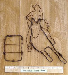 Barrel Racer - Hand made rustic barbed wire art sculpture on Etsy, $23.50
