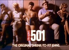 Levi's shrink-to-fit ad from 1985 featuring Nick Kamen