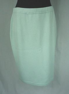 John Wool Blend Above Knee Solid Skirts for Women Evening Skirts, Aqua Blue, Wool Blend, Work Wear, Size 12, Knitting, How To Wear, Ebay, Women