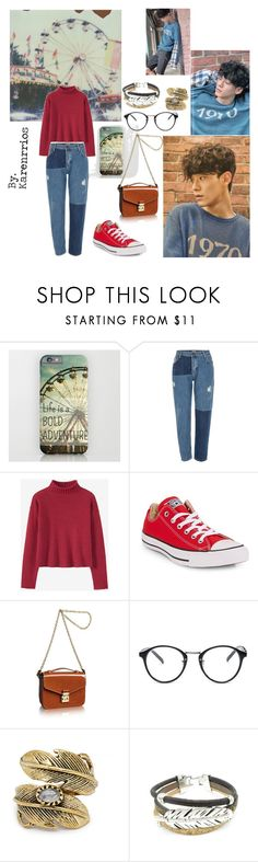 """Firts Date with Kim Jongdae (EXO)"" by karenrrios on Polyvore featuring Polaroid, River Island, Converse, Louis Vuitton, Natalie B y vintage"