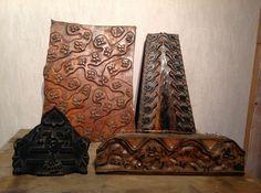 Nu in de #Catawiki veilingen: Oude houten batik stempels, o.a. Vlisco. Twintigste eeuw, Nederland en India,