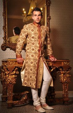 The Groom--I think, unless you're marrying a man whose culture leans toward this look, you'd have a hard time getting a Western man in this.