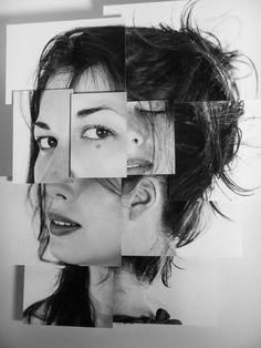 PLáSTICAMENTE: Autorretrato con fotocopias fragmentadas