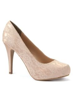 Champagne Lace Court Shoes - Vic, do you approve? They seem comfortable and a doable height for me. X