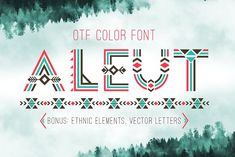 Tribal Aleut OTF color font.  by Peliken on @creativemarket