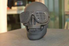 Skull Head Shape Portable Wireless Bluetooth Speaker Black Limited Edition New