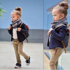 little fashionista fall outfit Little Girl Outfits, Little Girl Fashion, Toddler Fashion, Toddler Outfits, Kids Fashion, Trendy Fashion, Fashion Trends, Mode Swag, Middle Names For Girls