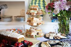 Sandwich stack always a good idea for a tea party to keep your guests happy High Tea, Pain Relief, Tea Party, Table Settings, Wellness, Mood, Table Decorations, Happy, Tea