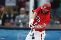 July 19 - Baseball - Men - Gold Medal Game. Canada vs USA. Bottom of 3rd inning.  Canada's Rene Tosoni hits a three run homer to tie the game at 3-3.  Pan Am Games baseball gold medal game at President's Choice Ajax Park in Ajax. July 19, 2015.