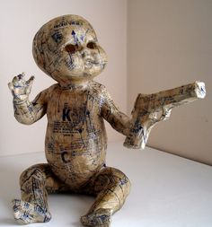 An original work by Hannelie Taute. South African Artists, Weird And Wonderful, Culture, Embroidery, Dolls, The Originals, Kids, Baby Dolls, Young Children