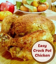Easy Crock Pot Chicken on www.PopularPaleo.com | A recipe for roasting a whole chicken in the crock pot! Budget-friendly, time-saving recipe.