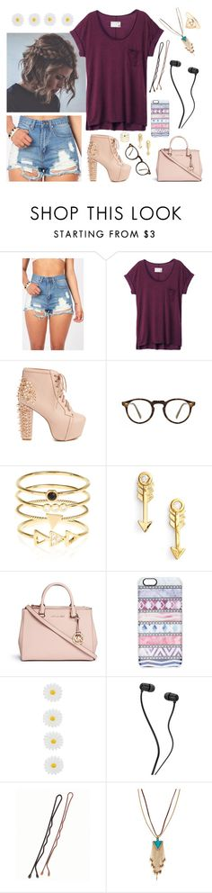 """Remmi 2"" by kate-reads on Polyvore featuring rag & bone, Jeffrey Campbell, Oliver Peoples, Accessorize, Sydney Evan, Michael Kors, Casetify, Panacea and Forever 21"