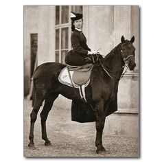 Empress Sissi of Austria riding horse #024SS Postcard