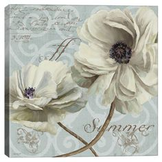 Canvas print with a floral motif.     Product: Wall artConstruction Material: Wood and canvasFeatures...