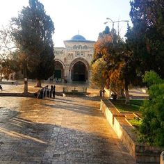 al-Aqsa mosque in the early morning