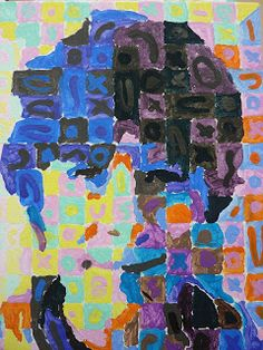 The Calvert Canvas: Adventures in Middle School Art!: Self Portraits inspired by Chuck Close History Projects, Art History, Art Projects, Middle School Art, Art School, School Ideas, Chuck Close, School Painting, School Portraits