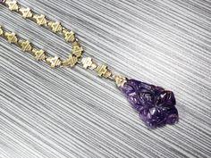 Vintage Amethyst Necklace 14k Vintage Amethyst by BelmarJewelers