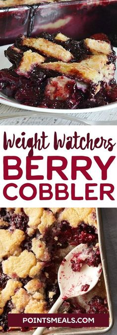 #weight_watchers BERRY COBBLER #dessert Ww Cobbler Recipe, Weight Watchers Cobbler Recipe, Weight Watcher Snacks, Weight Watchers Pie, Weight Watchers Smart Points, Yummy Recipes, Skinny Recipes, Keto Recipes, Delicious Desserts
