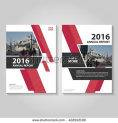Red Vector annual report Leaflet Brochure Flyer template design, business proposal report book cover layout design template, Abstract red presentation templates design - stock vector