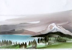 Mount Baker by Toni Onley - Woodlands Art Original - Red Kettle Art And Collectibles