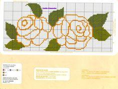 Anaide Ponto Cruz: lindos gráficos de ponto cruz para toalhas !!!!