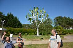 Visite de l'arbre à vent (NewWind) à la cité des télécommunications avec Sarah, Emily et Philippe