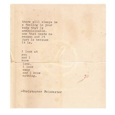 The Universe and Her, and I poem #226 written by Christopher Poindexter (For sale on Etsy. Shop Link in bio.)