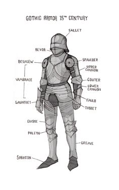 A quick armor study. Unless you are British, then it is an armour study. Knight Drawing, Knight Art, Fantasy Character Design, Character Concept, Character Art, Armadura Medieval, Medieval Armor, Medieval Fantasy, Medieval Knight
