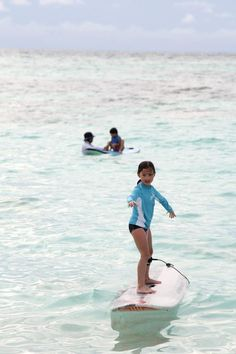 Never too young to learn to surf. Tropicsurf services available year-round from @Four Seasons Resorts Maldives