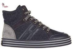 Hogan Rebel chaussures baskets hautes sneakers enfant garçon en daim neuves r141 basket blu EU 30 HXC141072827EQ4176 - Chaussures hogan (*Partner-Link)