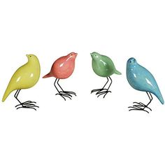 Colorful Standing Birds, Asst. of 4 ❤ liked on Polyvore