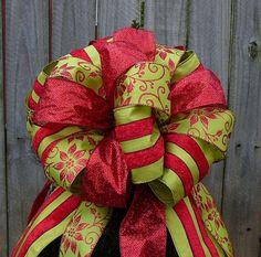 Christmas Tree Topper  Elegant Red and Apple by HornsHandmade, $83.00