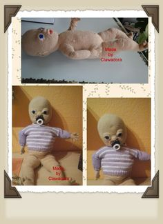 Baby Emily, Anleitung von DAWANDA Baby Emily, Teddy Bear, Etsy, Animals, Puppets, Tutorials, Animales, Animaux, Teddy Bears