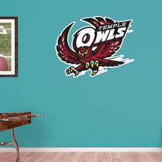 Temple Owls Logo Fathead Wall Decal