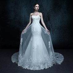 Trumpet / Mermaid Wedding Dress - Elegant
