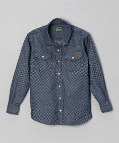 Love this Navy Polka Dot Button-Up - Infant & Boys on #zulily! #zulilyfinds