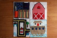 DIY activity book quiet book ideas #sewing