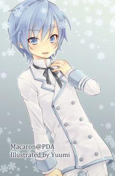 Kaito as a shota! Vocaloid Kaito, Kaito Shion, Cute Anime Boy, Anime Guys, Kuroko, Blue Hair Anime Boy, Anime Manga, Anime Art, Kaai Yuki
