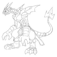 X-Antibody WarGreymon line art by Pyrus-Leonidas | LineArt ...