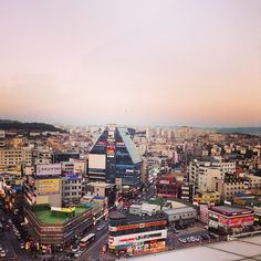 View of downtown PTK (Pyeongtaek) as seen from Sky Garden, the top of AK plaza/train station.