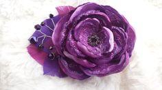 Amethyst dream fascinator, purple flower hair accessory, purple wedding flower, violet and plum feathered flower by faeryfloral on Etsy https://www.etsy.com/listing/229761927/amethyst-dream-fascinator-purple-flower