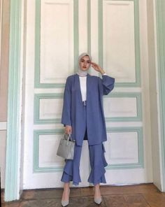 ✔ Office Look Casual Classy – Hijab Fashion 2020 Image Fashion, Fashion 90s, Modern Hijab Fashion, Tokyo Street Fashion, Street Hijab Fashion, Muslim Fashion, Modest Fashion, Fashion Outfits, Classy Fashion