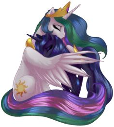 Celestia and Luna by RizCifra on DeviantArt