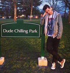 Dan Smith of Bastille :) {I made my friend take me to this park so I could stand at this sign... and I did. And it was beautiful}