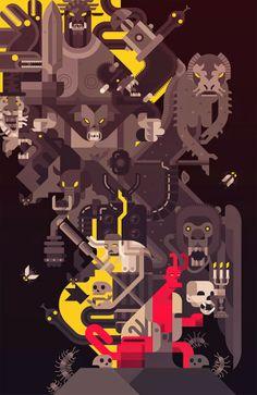 Geometic Hellboy