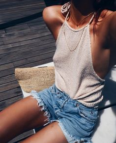 Denim + Lace :: Boho Style :: Festival :: Shorts + Cardigans :: Jackets :: Ripped Jeans :: Distressed + Tan :: Lover of Denim Style Inspiration