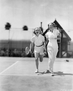 Actress Carole Lombard with famed tennis player Alice Marble - date unknown
