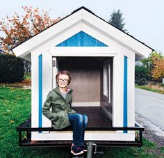 This nine-year-old girl builds tiny houses for the homeless. There are tips on how you can make your own!