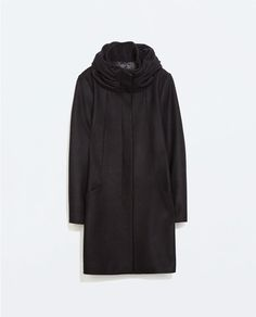 WOOL WRAPAROUND COLLAR COAT @saradougadir